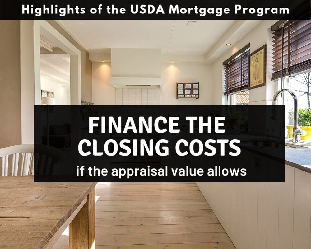 Pennsylvania USDA Mortgages allow you to finance in your closing costs