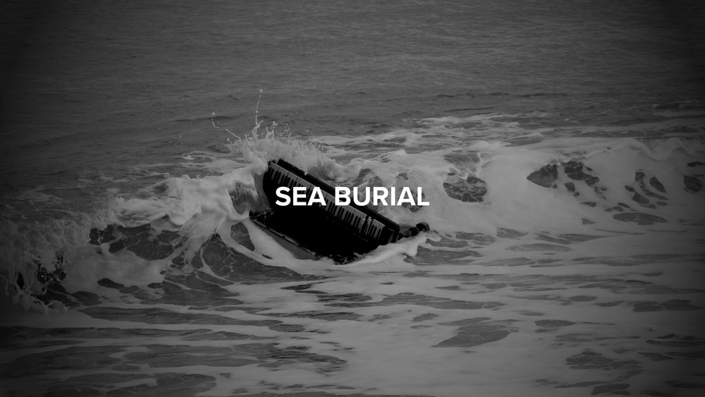 Sea Burial - Brutal images that capture the era we live in, one where we wholesale abandon our pianos.