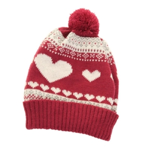 zoom_A717_-_WOMENS_HEARTS_KNITTED_SKI_HAT_WITH_POM_POM_1.jpg