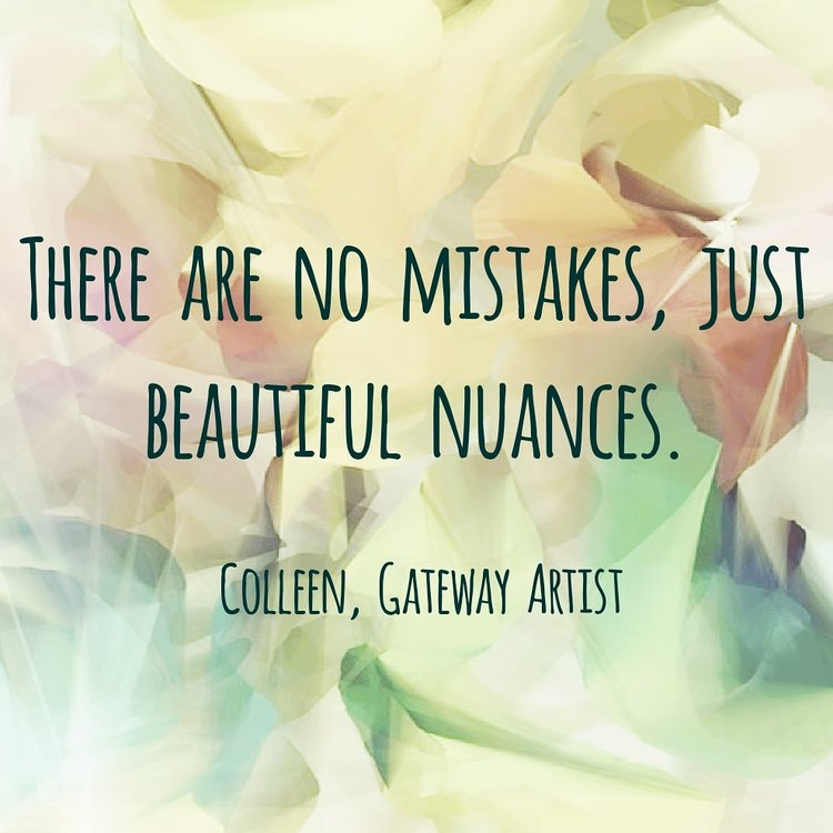 Quote by an artist during our guest artist workshop series with Gateway Arts.