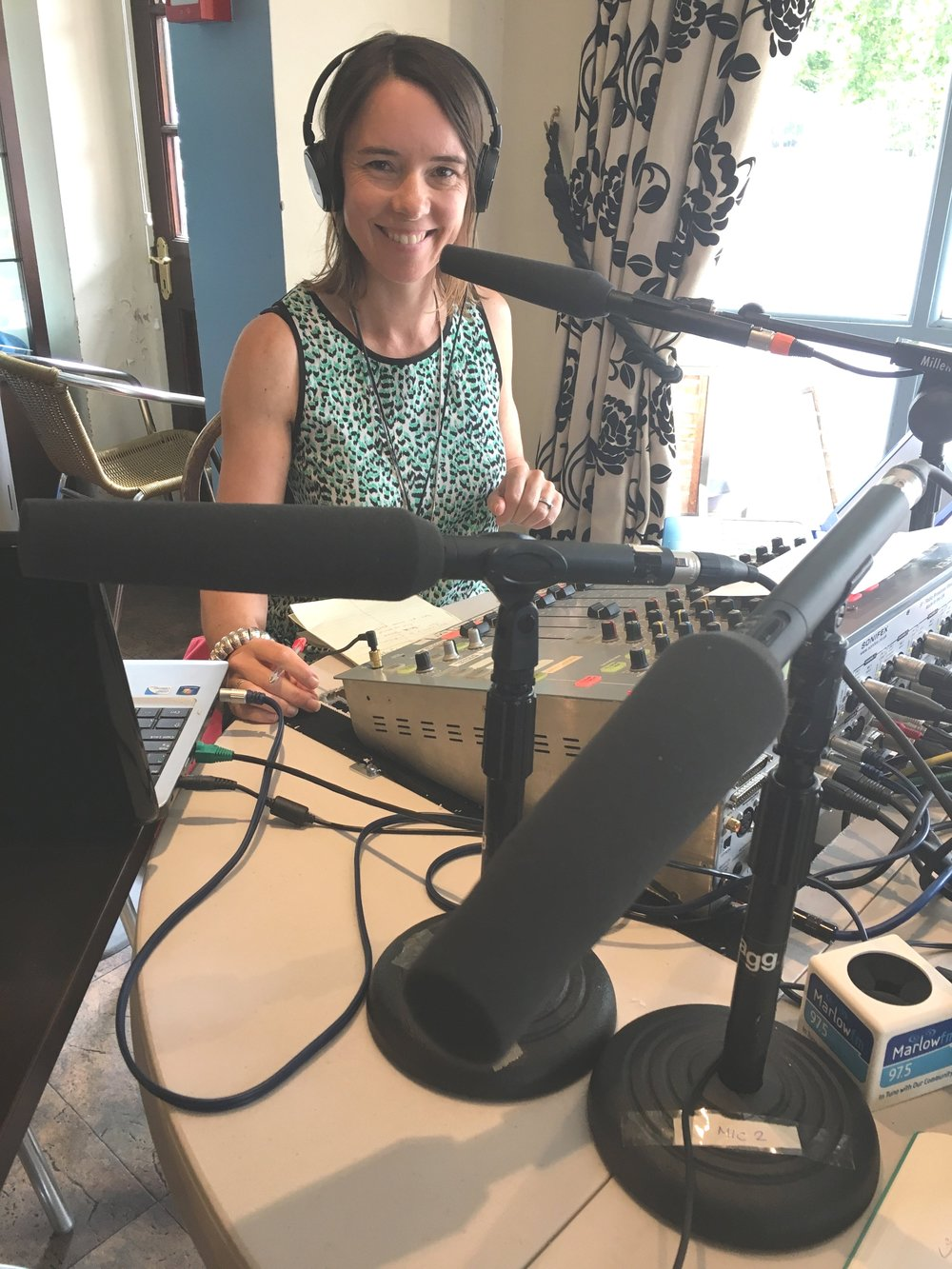 Carola Moon at MarlowFM's The Buzz - Radio Interview with Melissa Gale 3.jpg