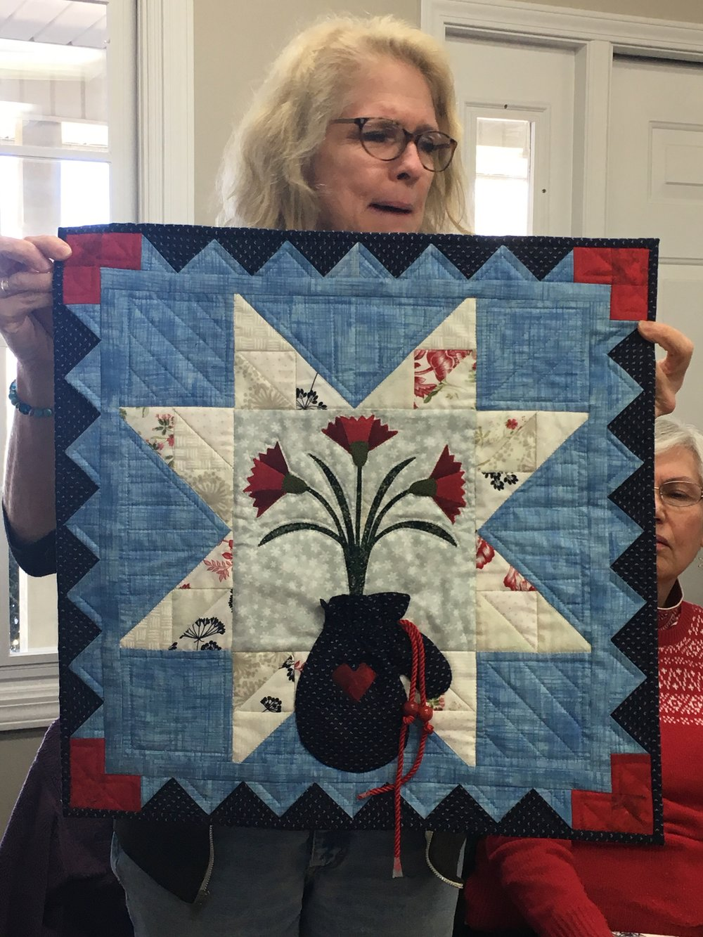Deb's January monthly block.