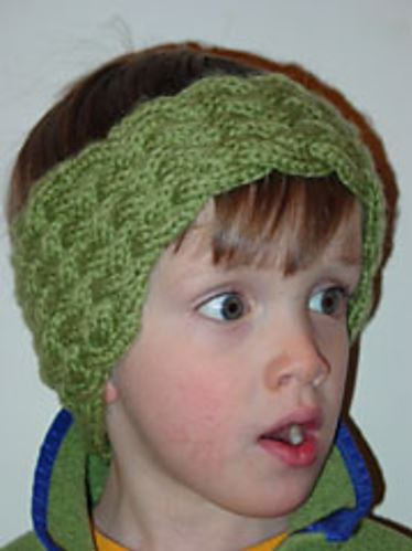 """The Woven Headband"", a nicely shaped headband for young and old. It only looks intricate - it's really easy! - Click on the image to see the pattern. Save the pdf to your device. Copyright Mary Ann Stephens. For personal use only. Do not distribute."