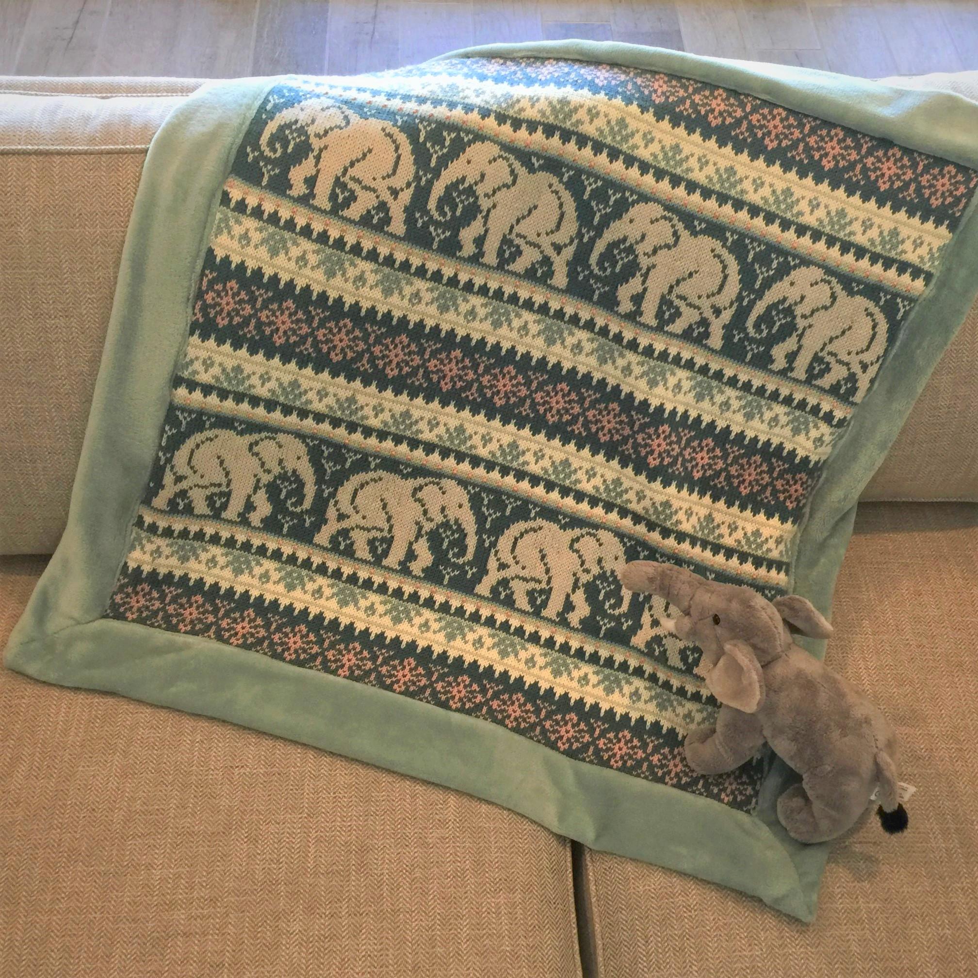 Fair Isle Knitting Patterns Baby Elephant Blanket Knitting Pattern Pdf