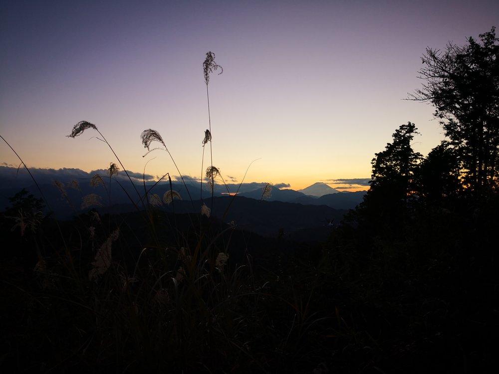 Nice Mount Fuji sunset view