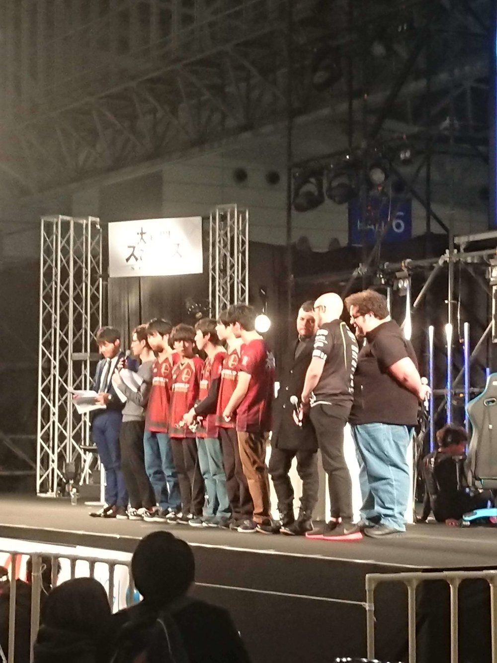 ESAM on Stage after the JESU Smash Ultimate Finals