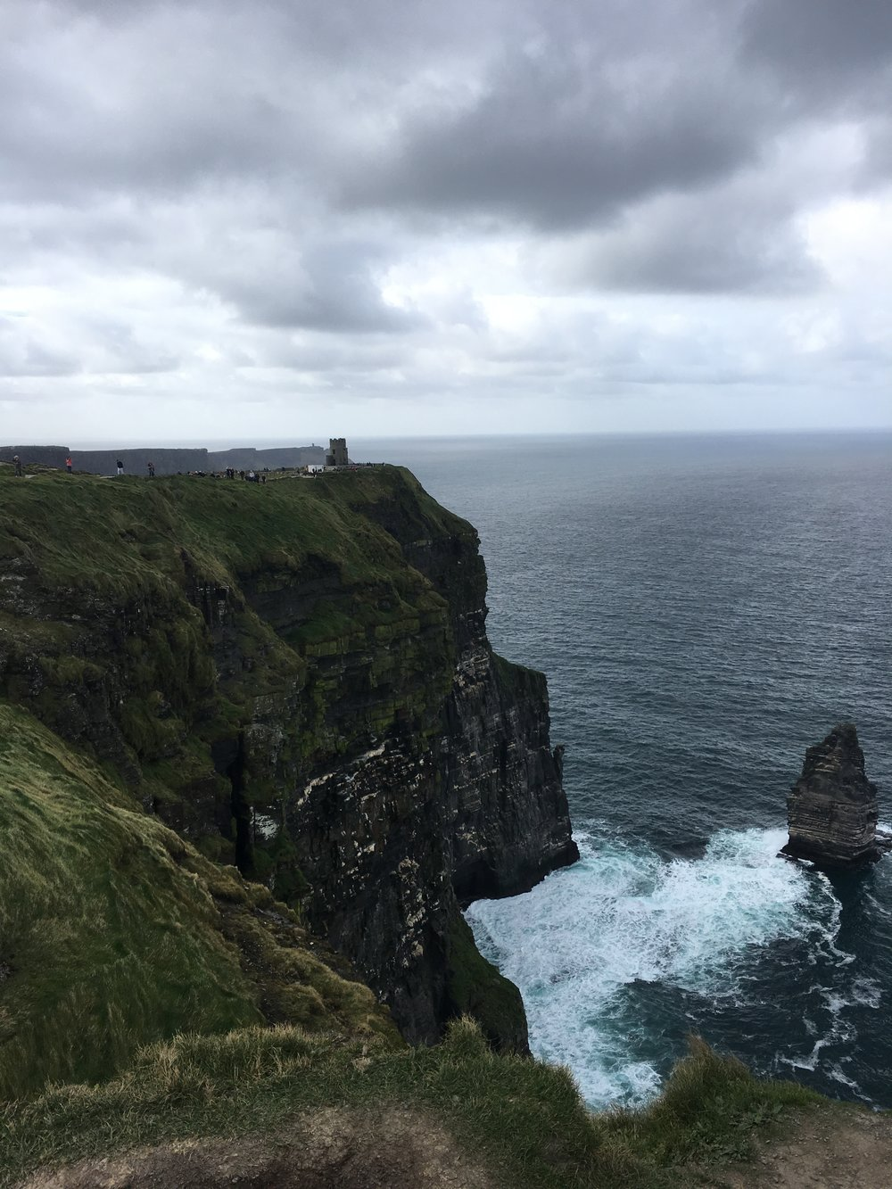 Standing on The Cliffs of Moher in Ireland