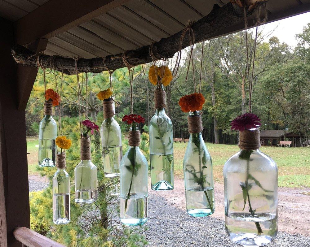 Fall decorations at a Fall wedding