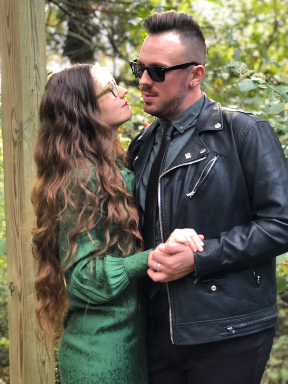 My dear friend Bobby in a leather jacket