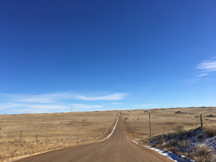 Open road in Colorado