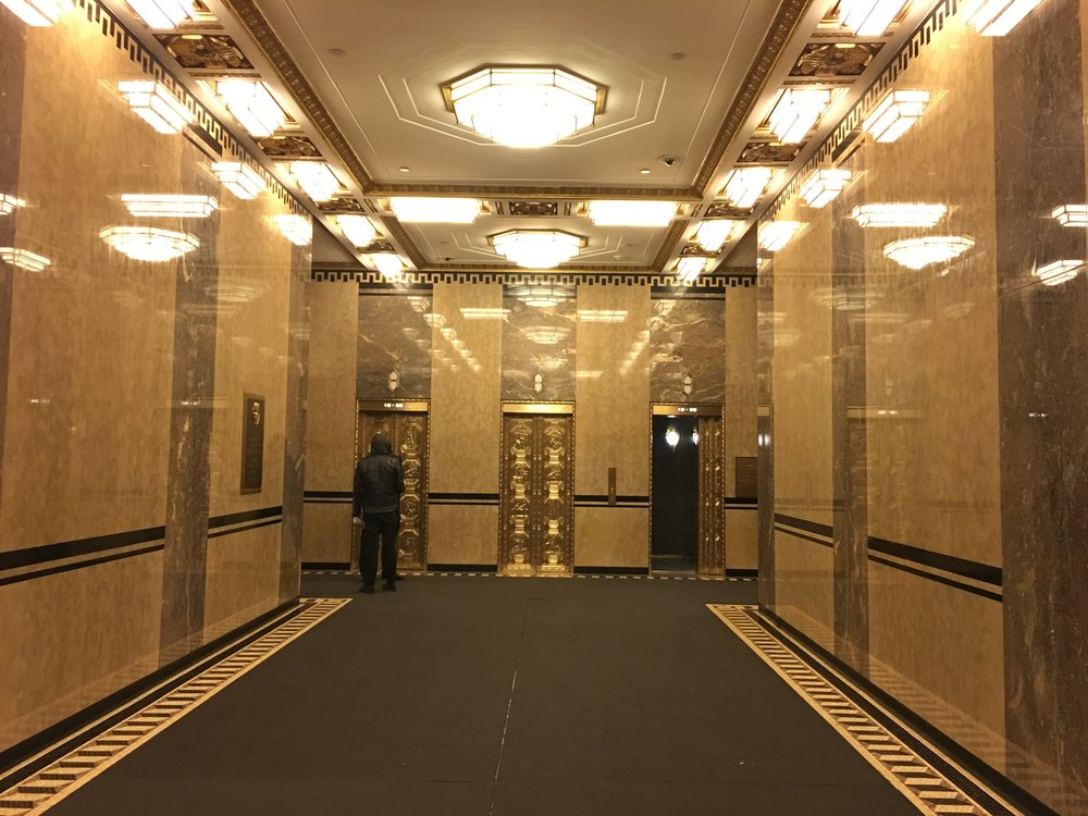A beautiful lobby