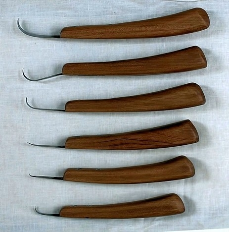 Basic hook knife shapes to put into your bent knife.