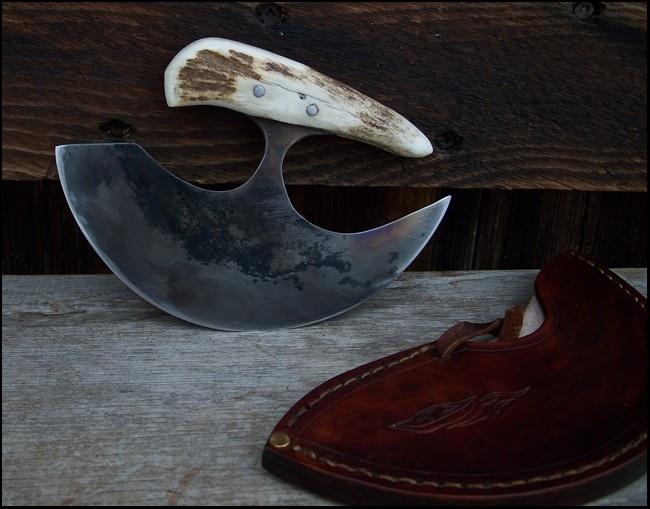 Custom MadeDrop Point Knife