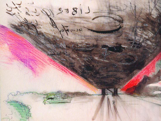 Lina Bo Bardi, L'ombra della sera, drawing, 1965. Courtesy of Arquitectura en Dibuixos Exemplars