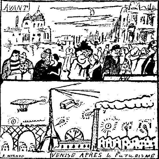 Venise Apres Le Futurisme, 1910 (Andre Warnota, Comoedia)