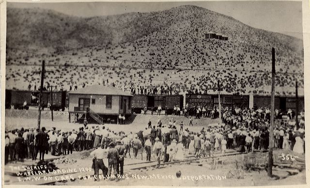 Bisbee, AZ: illegal deportation of striking mine workers, their supporters, and citizen bystanders, July 1917