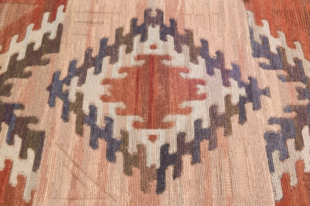 detail of weft wrapped/twined rug