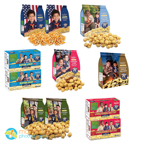 Moonbug Photography commercial photographer for Boyscout Popcorn