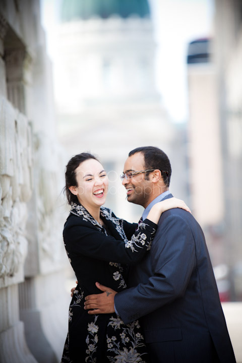 Engagement Photography by Moonbug Photography downtown Indianapolis