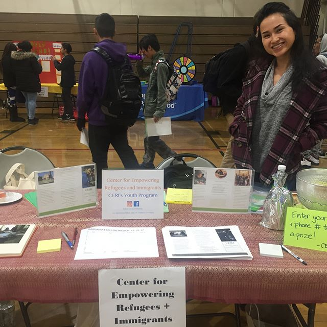 Outreach event at Oakland Technical High School Health Fair. Some of the things we offer to the youth: social support, academic advocacy, counseling referrals, transportation, health education, art workshops, retreats, and most of all FOOD. We are thankful for the opportunity to reach out to the students. We're looking forward to the new recruits. #cerieastbay #outreach #healthfair #oakland #community #youthprogram