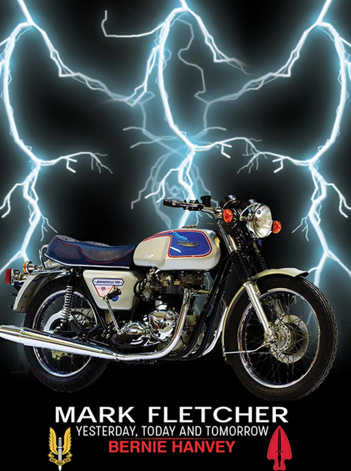 "Mark Fletcherby Bernie Hanvey""This book shows a way of looking at life that few have considered."" - Published 2018Ever wish you had 20/20 hindsight, and it was permanent?The motorcycle Mark Fletcher bought was a limited edition 1975, T140, 750cc Triumph Bonneville. He knew that it was special as soon as he saw it beneath the fluorescent lights in the showroom of Kings Motorcycles. He soon found out just how special it was.The bike became an essential tool for him to get the truth about his mother's death. It's now used to help others by obtaining information from the future and using it in the present."