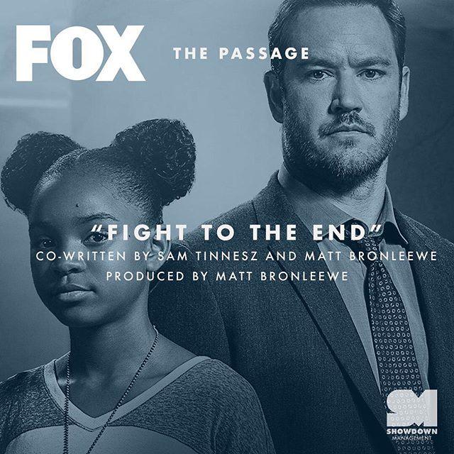 "Listen for @ruellemusic ""Fight To The End"" on tonight's episode of @thepassagefox. Co-written by @samtinnesz and @mattbronleewe. Produced by @mattbronleewe."