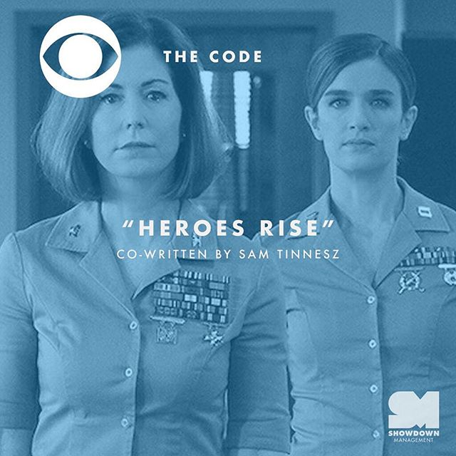 """New @thecodecbs promo features """"Heroes Rise"""" by @samtinnesz! Watch it at the link in our bio. 📺"""
