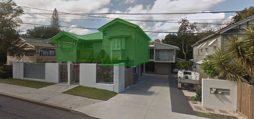 character house in multiple residential situation
