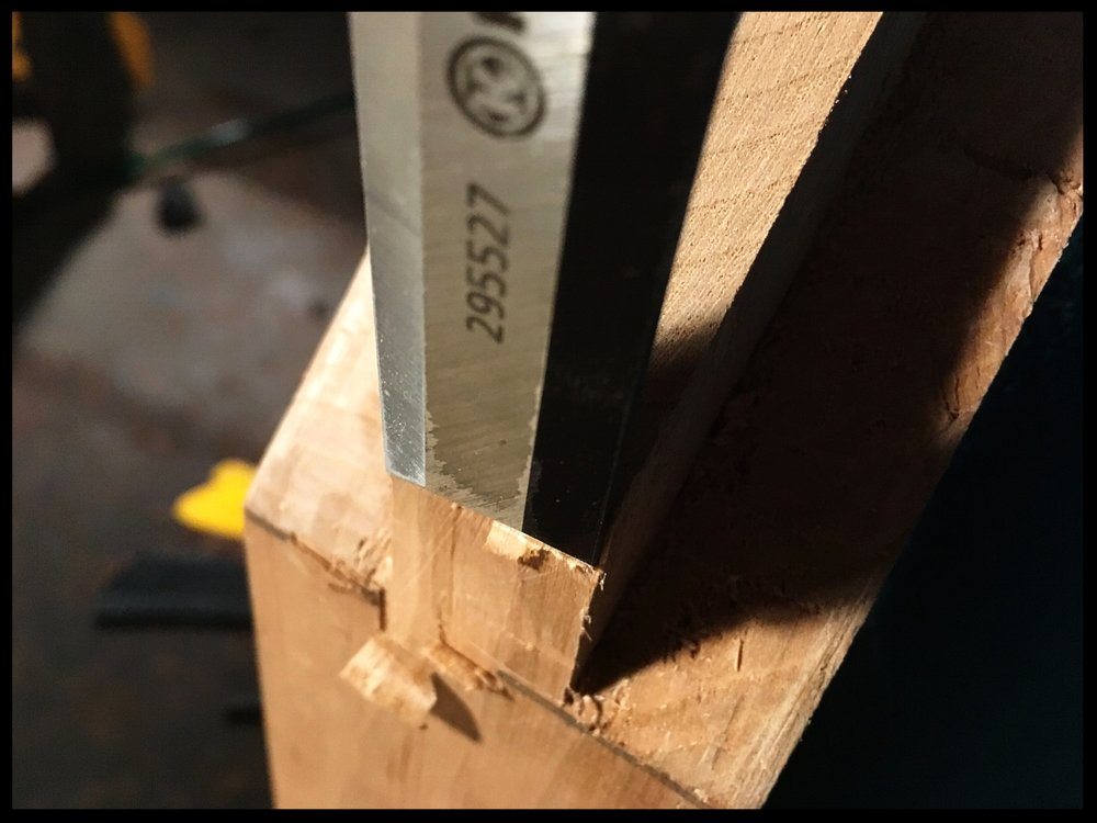 Nothing like nice sharp chisels…