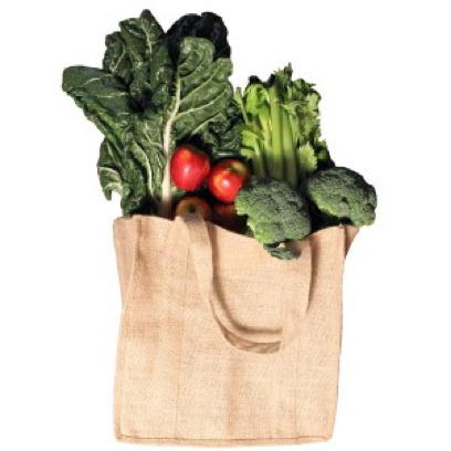 Real Green Bag Made from Jute - Made from strong, ethical, sun-grown (100% jute), naturally biodegradable supermarket shopping bags.