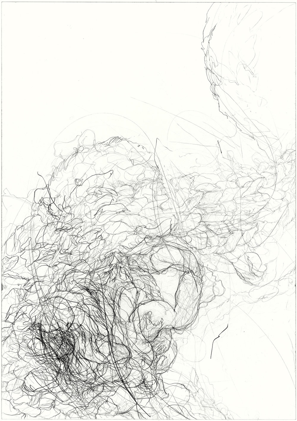 Undercurrent  2011, pencil on paper, 84.1 cm x 59.5 cm.