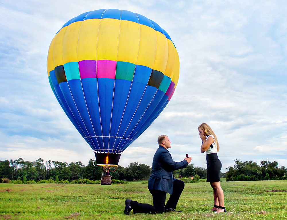 hot air balloon proposal ideas