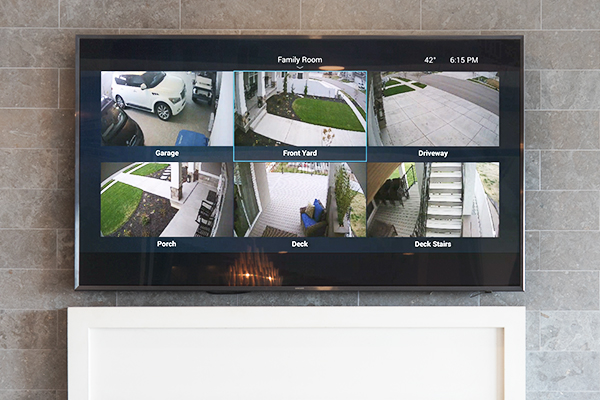 When you are at home, check on your house on your touch screens or television.