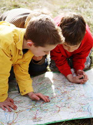 kids and maps