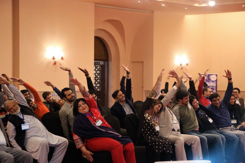 Yoga Masterclass - Fulbright Alumna and Certified Yoga Master Nadia Akram making us move!!