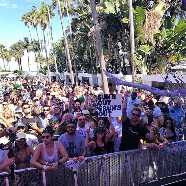 Suns out Grums out! A fitting end to my Miami weekend at @anjunabeats @delanobeachclub 🏝️