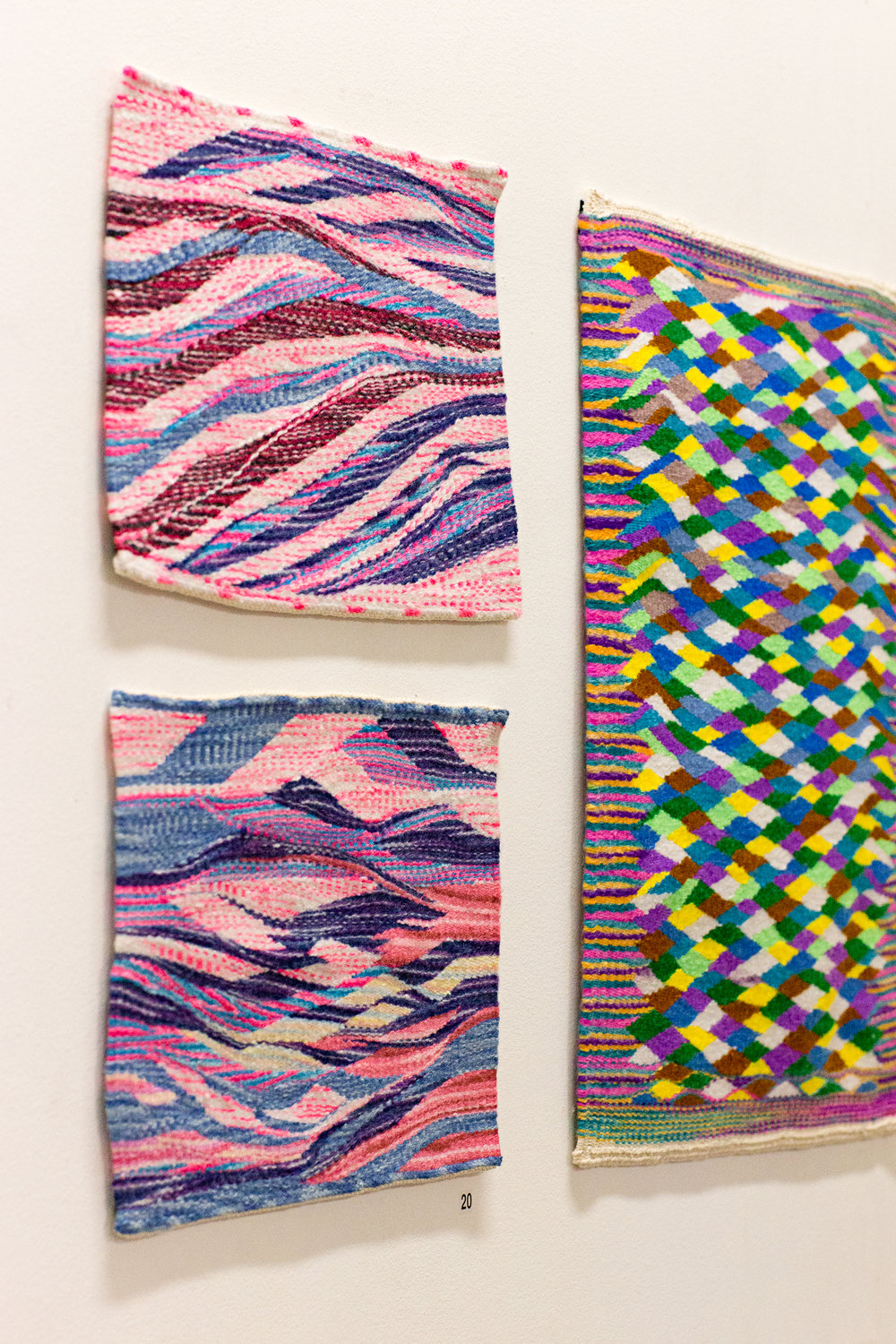 Munaw Poe and Shuklay Tahpo, hand-woven tapestries, installation view,  Handle With Care,  2018, Soul Craft Festival, Melbourne. Photo courtesy Soul Craft Festival.
