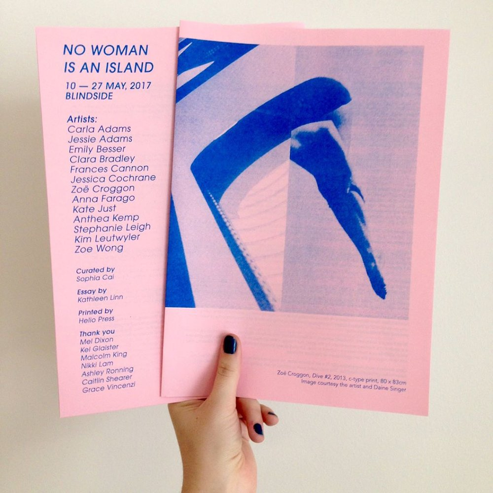 Risograph printed catalogue by Helio Press. Photo: Ashley Ronning.