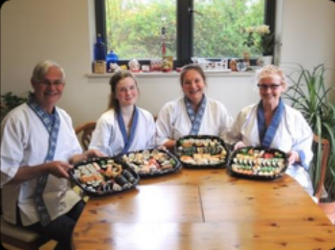 """We had a fantastic afternoon learning many things about sushi making  with Nari and Yoshie who are excellent teachers and made the whole  experience very enjoyable for us. The food that we took home with us was  delicious and looked as good as it tasted and we would like to thank  you for the warm welcome and excellent tuition.Linda, Libby, Susan and  Andy"""