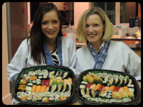 """A mother, daughter team, we embarked on a sushi course to learn the secret to delicious sushi. I cannot praise Narihto and Yoshie enough for a carefully thought out, beautifully presented and immaculate afternoon with superior attention to detail. We could not more highly recommend this course enough! They catered amazingly for my mother being on crutches and made it possible for her to participate fully in every activity. The course book is an invaluable reference as it would not have been possible to remember quantities, and the photos are a perfect reminder of the procedures we followed. After tasting sushi for many years we finally know how to make it!!"""