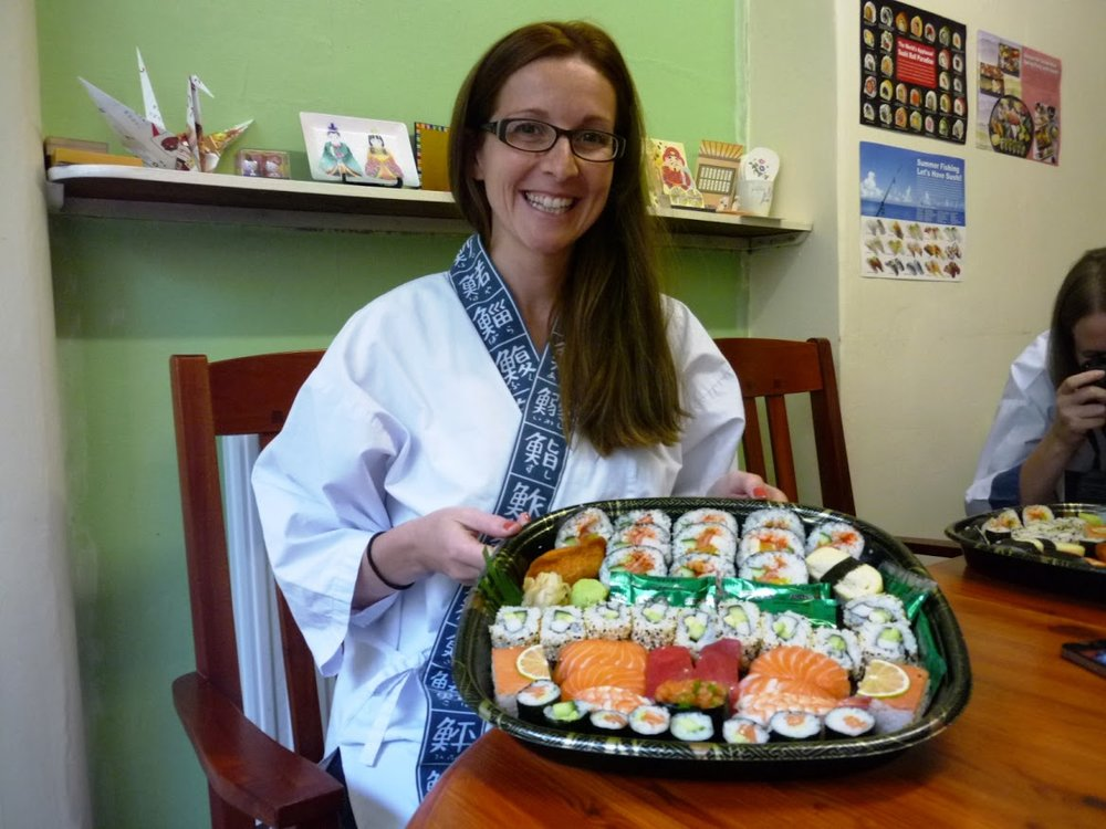 """ I cannot recommend this course highly enough.  Nari and Yoshi are  fabulous teachers and lovely people, making us feel welcome as soon as  we arrived and passing on lots of their fabulous knowledge and tips to  take home with us.   The sushi tasted amazing and all ingredients were  of a very high standard - you get to go home with a feast and a great  starter kit.  I had a great time and cant wait to use the kit to start  making more sushi.  Thank you so much for a wonderful afternoon ;0) """