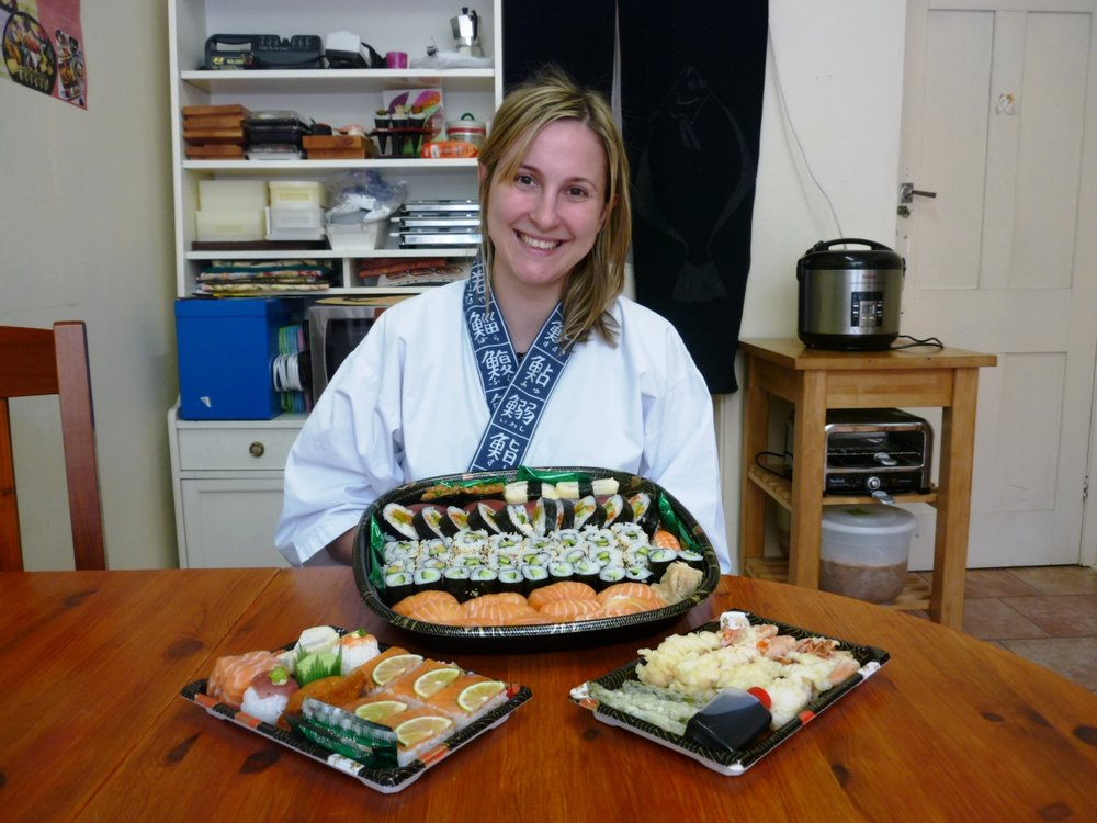 """I had fantastic time during my private sushi course with Yoshie& Nari.They are extremely kind, welcoming and professional sushi masters.Their kitchen is very clean and cozy. The course is excellent, very thorough and fun, I learnrd a lot about sushi making and history. At the end I had a tray of professional made sushi, which I enjoyed with my husband and friends. Looking forward to having more cooking classes with Nari&Yoshie. I already recommended this course to my sushi-loving friends!"""