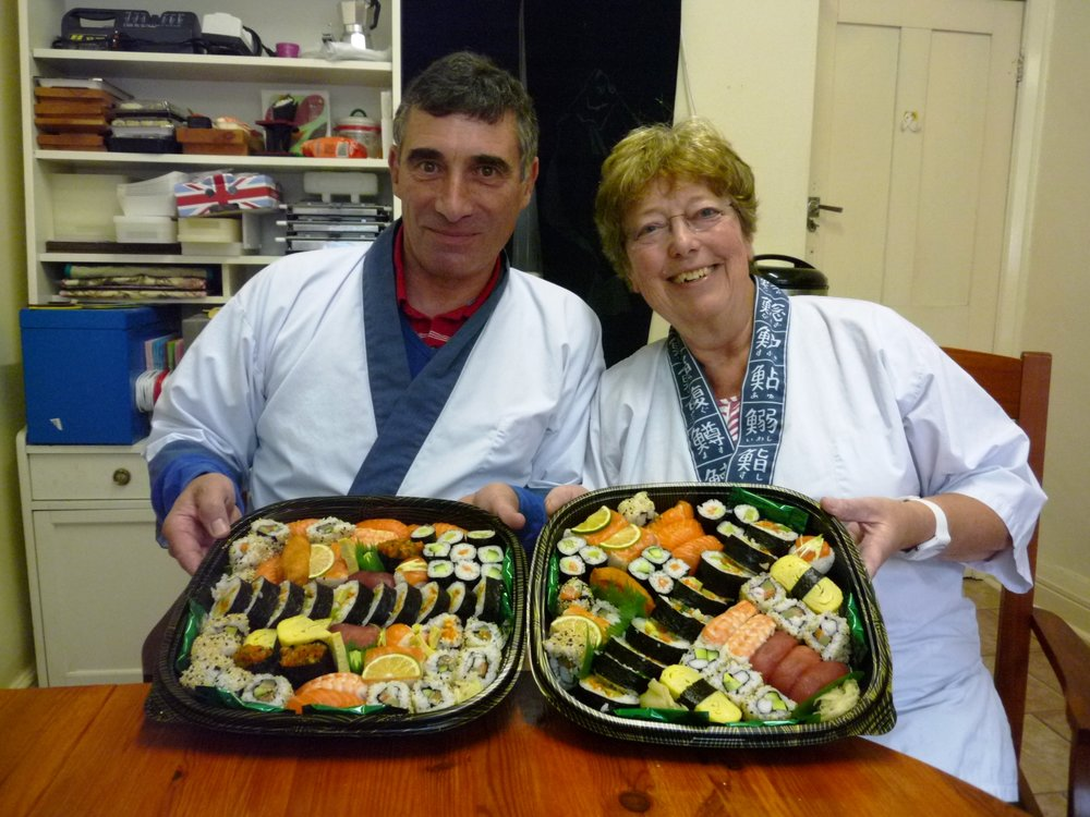 """Loved the course! Narihito and Yoshie both explained what to do very  clearly, it made for a fun and absorbing afternoon. It has given us both  confidence to create sushi ourselves, especially Ian who never cooks!"""