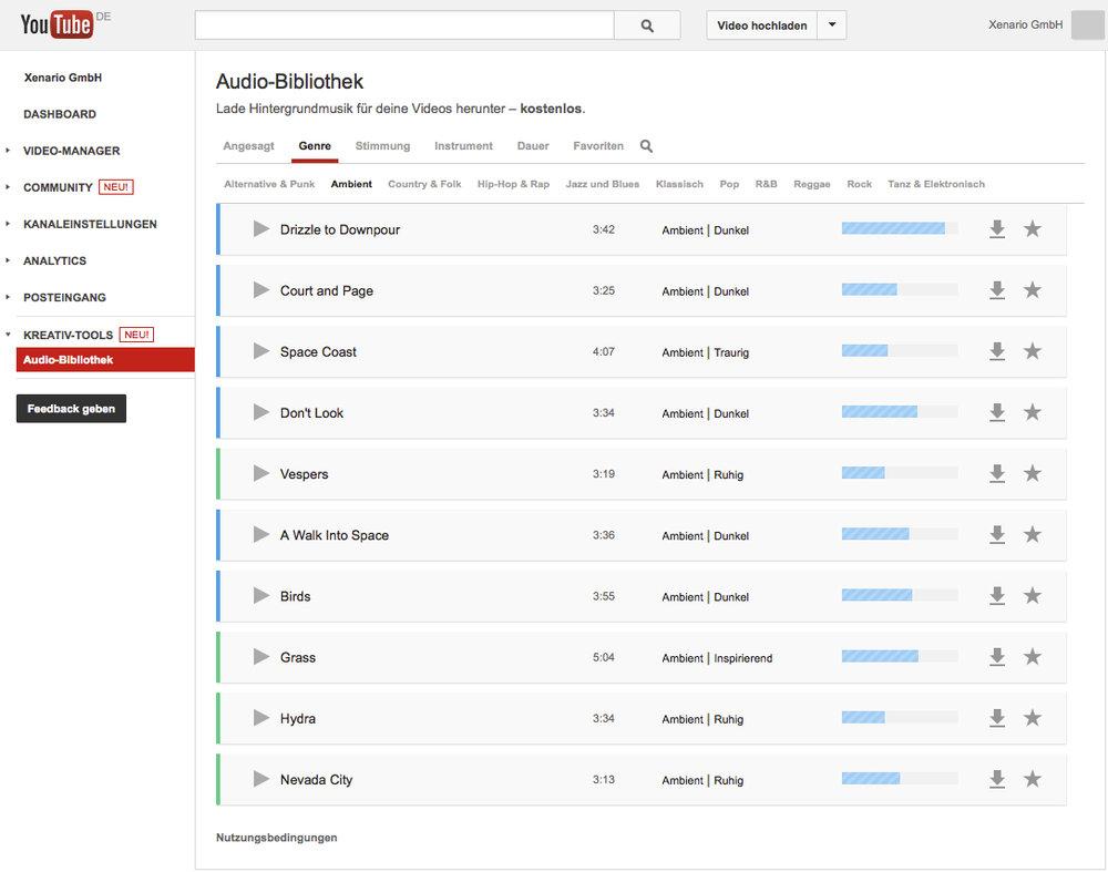 Tipp: Hintergrundmusik gratis für YouTube-Mitglieder