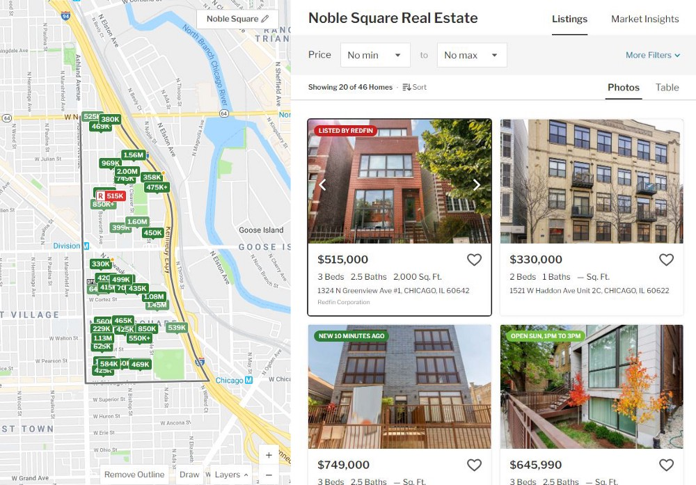 Redfin listing stands out and is listed first under Recommended