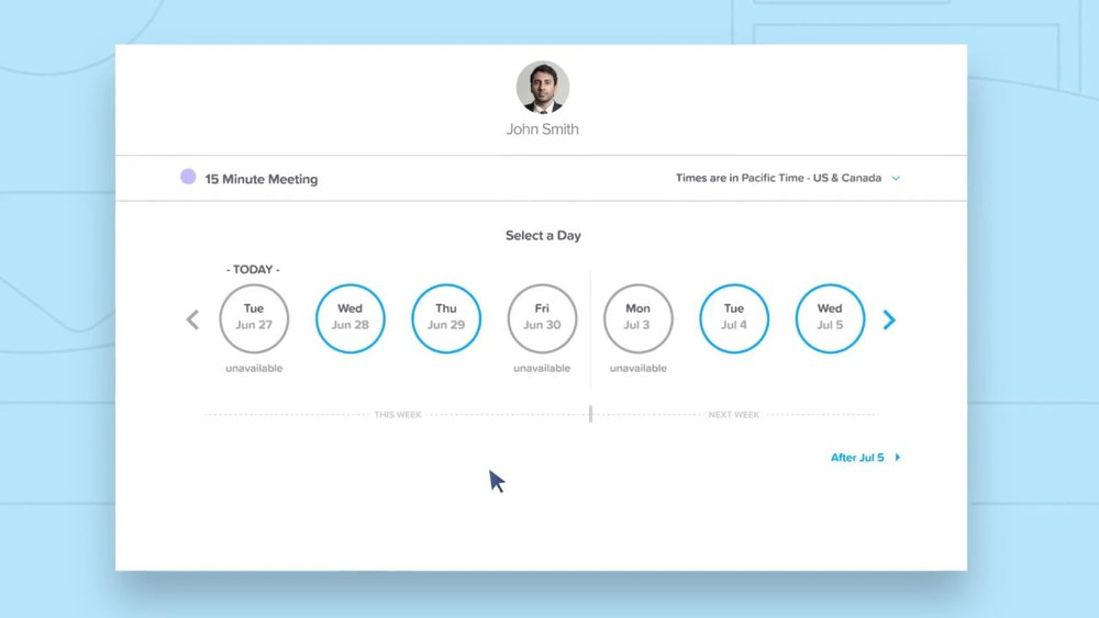 Calendly makes scheduling between two people super easy