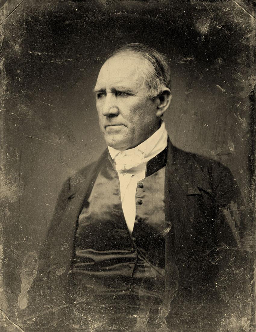Sam Houston, Democratic Senator from Texas. Half plate daguerreotype, gold toned, circa 1848.