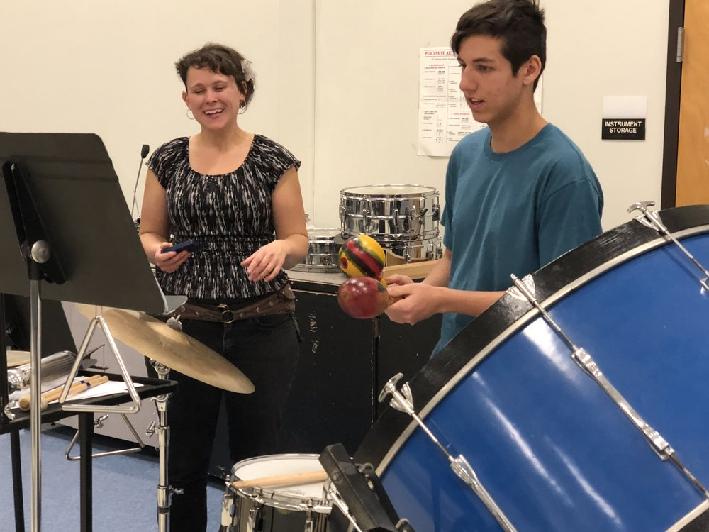 Project Outreach: Coaching a student to perform in a concert with the orchestra.