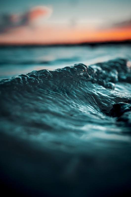 """""""selective focus photo of water wave"""" by  Alex Perez  on  Unsplash"""