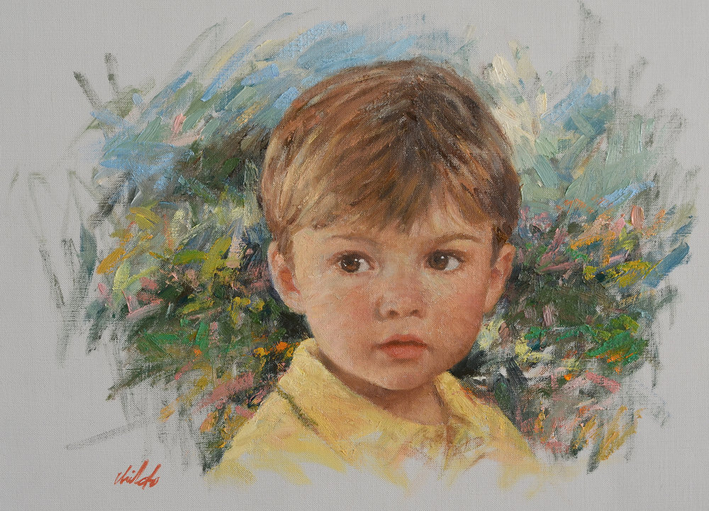 Boy with Yellow Shirt - 20x16